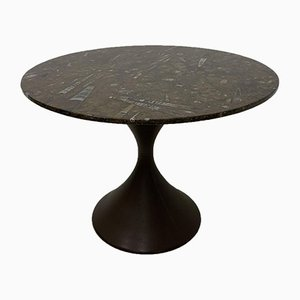 Diabolo Dining Table with Fossils Stone Top, 1970s