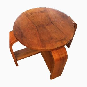 Art Deco Wooden Side Table