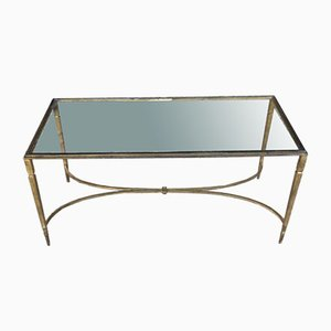 Vintage Gilded Wrought Iron Coffee Table by Maison Ramsay, 1960s