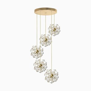 Large Cascade Light Fixture with Five Sputniks in the Style of Emil Stejnar, 1960s