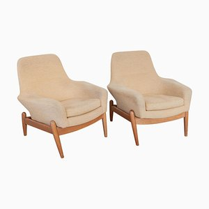 Ladys Lounge Chairs by Ib Kofod-Larsen for Bovenkamp, 1950s, Set of 2