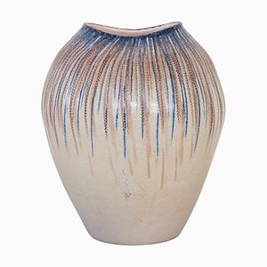 Large German Stoneware Art Pottery Vase, 1960s