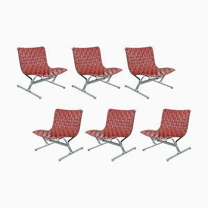 Lounge Chairs by Ross Littell for ICF Milano, 1968, Set of 6