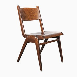 Mid-Century Walnut Stacking Dining Chair from Casala, 1950s