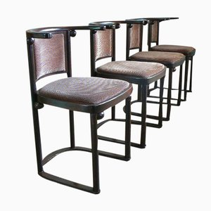 Fledermaus Chairs by Josef Hoffmann for Wittmann, 1980, Set of 4