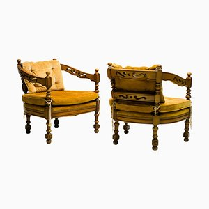 Gallery Collection Armchairs from Giorgetti, 1975s, Set of 2