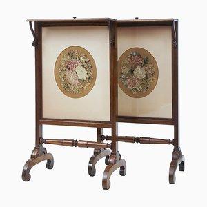 Regency Wandteppich Wandschirme aus Teak, 2er Set