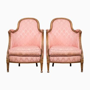 Louis XVI Pink Chairs, Set of 2