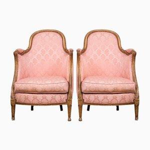 Sedie Luigi XVI rosa, set di 2