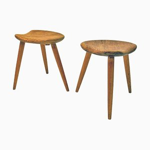 Mid-Century Norwegian Stools from Norsk Husflid, Set of 2