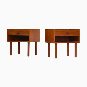 Teak Model 430 Bedside Tables by Hans J. Wegner for Ry Møbelfabrik, Denmark, 1960s, Set of 2