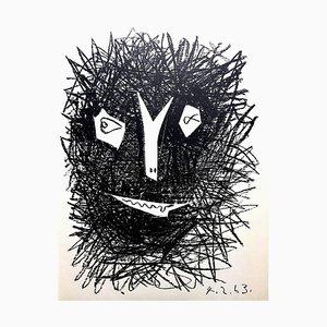 Litografia Deux Masques di Pablo Picasso, 1964