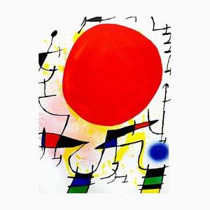Abstrakte Lithographie von Joan Miro, 1972
