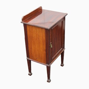 Antique Mahogany Bedside Cabinet with Crossbanding, 1910s