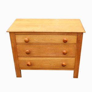 Small Golden Oak Chest of 3-Drawers, 1940s