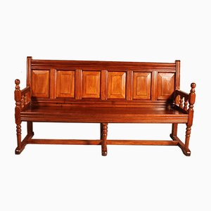 19th Century French Cherry Wood Bench