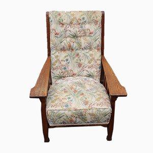 Arts and Craft Style Oak Armchair, 1930s