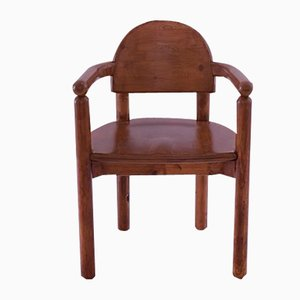 Vintage Danish Pine Carver Dining Chair by Rainer Daumiller, 1970s