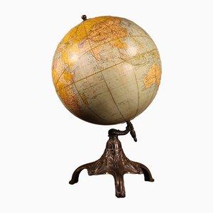 Antiker Globus aus Gusseisen von Rand McNally & Co