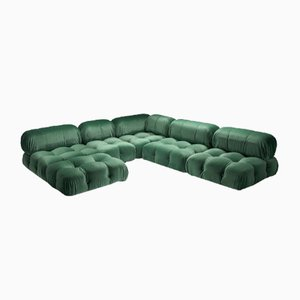 Green Velvet Modular Camaleonda Sofa by Mario Bellini for B&B Italia / C&B Italia, 1970s
