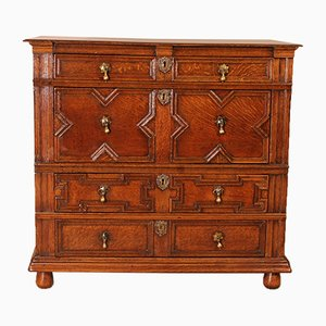 17th Century Jacobine Light Oak Commode
