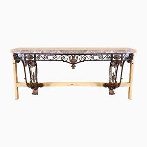 19th Century Napoleon III Wrought Iron Console Table
