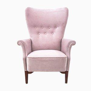 Scandinavian Pink Armchair, 1950s