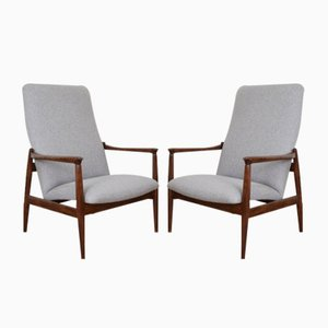 Mid-Century Polish Lounge Chairs by Edmund Homa for Gościcińskie Fabryki Mebli, 1960s, Set of 2