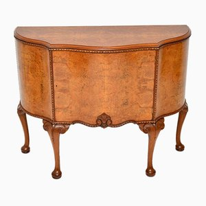 Anne Style Burr Walnut Cabinet, 1920s