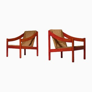 Carimate Easy Chairs by Vico Magistretti for Cassina, 1960s, Set of 2