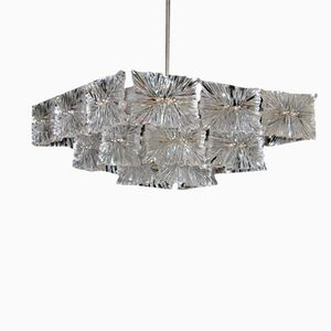 Crystal Ceiling Light by J. T. Kalmar for Kalmar, 1965