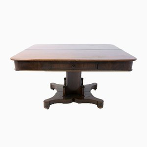 Antique Biedermeier Scandinavian Folding Table, 1850s