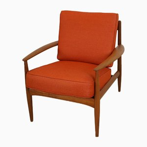 Mid-Century Danish Teak Lounge Chair by Grete Jalk for France & Søn / France & Daverkosen, 1960s