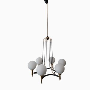 Mid-Century 6-Light Ceiling Lamp from Stilnovo