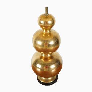 Goldene Vintage Keramik Tischlampe aus Keramik