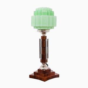 Grüne Art Deco Tischlampe, 1990er