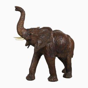 Vintage Elefant aus Leder, 1970er