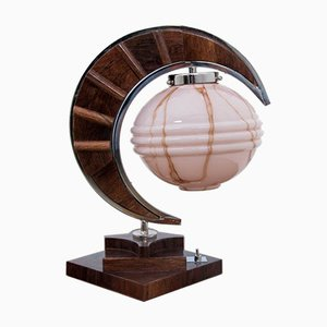 Art Deco Style Moon Table Lamp, 1990s