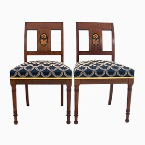 Empire Style Side Chairs, 1940s, Set of 2