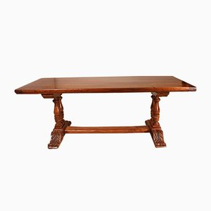 Antique Louis XIII Style French Walnut and Oak Monastery Table