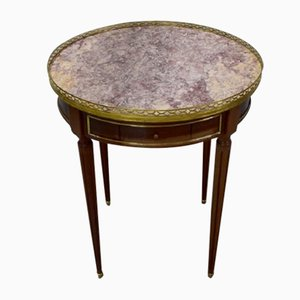 Antique Louis XVI Mahogany Bouillotte Side Table