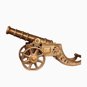 Small English Bronze Table Cannon