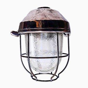 Vintage Laternen Wandlampe, 1950er