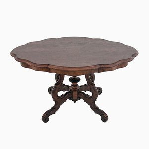 Antique French Walnut Dining Table, 1930s