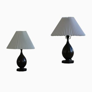 Danish Modern Model 1860 Table Lamps from Just Andersen, 1930s, Set of 2