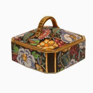 Art Deco Keramikbox von Raymond Chevallier für Boch Frères