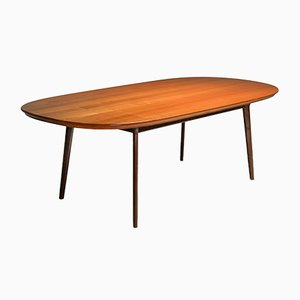 Mid-Century Wengé and Cherry Dining Table, 1960s