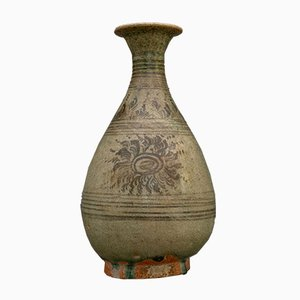 Koreanische Seladongrüne Vase, 1940er