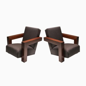 Wooden Utrecht Chairs by Gerrit Rietveld, 1960s, Set of 2