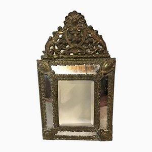 Large Napoleon III Brass Mirror, 1820s